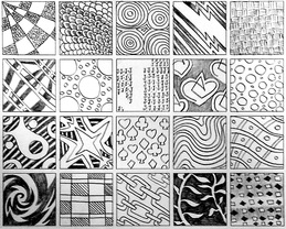 Zentangle patterns created by Mr. Wing on 4/21/14).