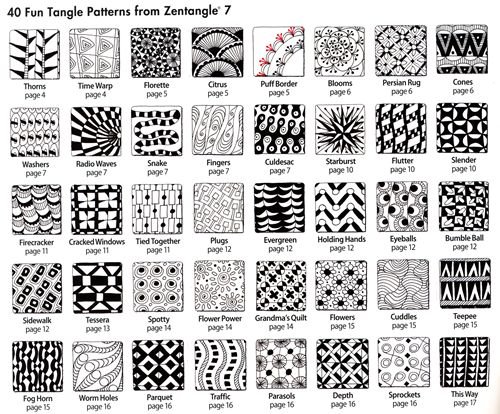 Zentangle jr high art scpa for Drawing patterns for beginners